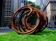 Three Indeterminate Lines, 2003 (South side of 54th Street), Bernar Venet, Studio Archives