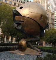 Fritz Koenig, The Sphere. Photo by Malcolm Pinckney, NYC Parks.