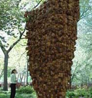Ursula von Rydingsvard with Czara Belkami.