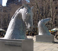 Andy Scott, The Kelpies, Courtesy of NYC Parks