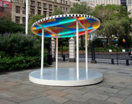Daniel Buren, Suncatcher, Courtesy of the Public Art Fund