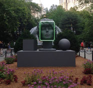 Amanda Ross-Ho, The Character and Shape of Illuminated Things (Facial Recognition), Photo by NYC Parks