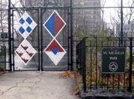 Katherine Daniels, St. Nicholas Park Mesh, 2012, photo courtesy of the artist