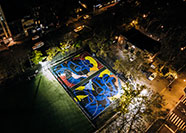 KAWS, New York Made: Stanton Street Courts, photo courtesy of Nike