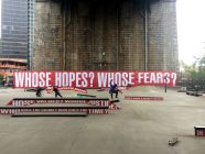 Barbara Kruger, Untitled (Skate), Photo by NYC Parks