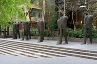 Magdalena Abakanowicz, Walking Figures, Courtesy of Marlborough Gallery.