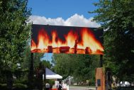 Catherine Opie, Untitled (Stump Fire #4), 11Α x 28Α billboard photograph.