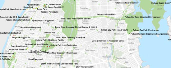 Croton Parks for the 21st Century Map, links to larger map